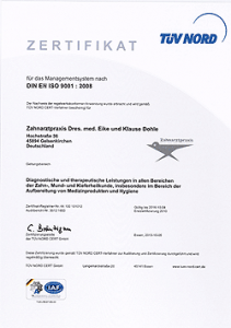 Zertifikat-Zahnarzt